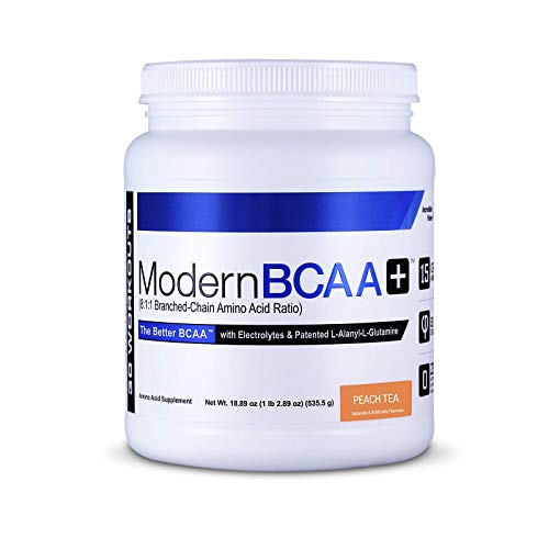 Modern BCAA+ Essential Amino Acid (EAA) Branched Chain Amino Acid (BCAA) Muscle Recovery Supplement Powder Drink Mix, Peach Tea - 30 Servings