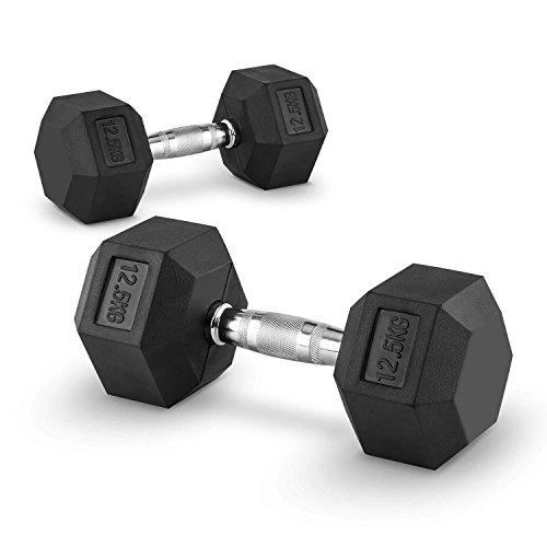 Capital Sports Hexbell 12,5 Bilanciere Coppia Pesi 12,5 kg