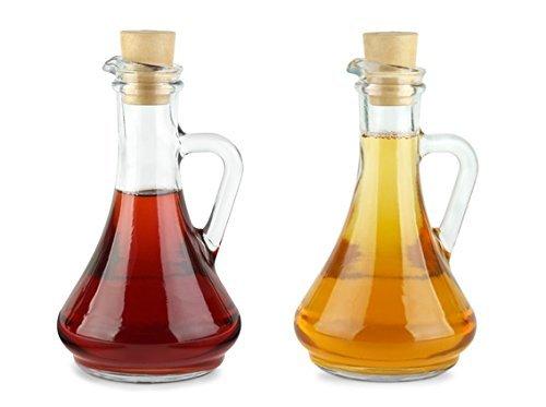 Pasabahce 80108 Lot de 2 bouteille huile & vinaigre avec bouchon en plastique \