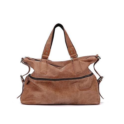 zZZ Leather Men's Bag Trend Casual Shoulder Bag Fashion Messenger Bag 15 Inch Handbag Large Capacity Internal (Color : Brown)