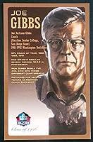 PRO FOOTBALL HALL OF FAME Joe Gibbs NFL Bronze Bust Set Card Postcard (Limited Edition 1 of 150) [並行輸入品]