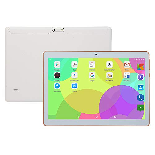 Tableta de 10 Pulgadas,Tableta Android con 1GB + 16GB,Dual SIM y Cámara Dual,WiFi Bluetooth GPS,Procesador Octa-Core,Pantalla táctil HD IPS,6000mAh Batería