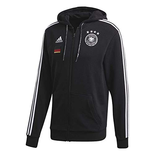 adidas Herren Kapuzenjacke DFB Full Zip Hoody, Black, L, FI1455