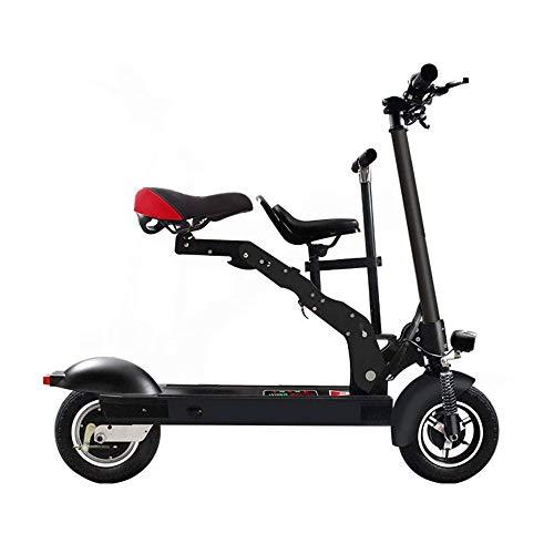 FUJGYLGL Bicicleta eléctrica Plegable del patín, Scooter eléctrico Adultos, Connetion, Display, Crucero...