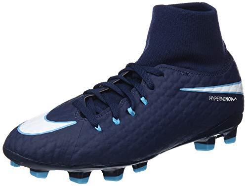 Nike Unisex-Kinder Hypervenom Phelon 3 DF FG JR 917772 Fußballschuhe, Blau (Obsidian/Gamma Blue/Glacier Blue/White 414), 36.5 EU