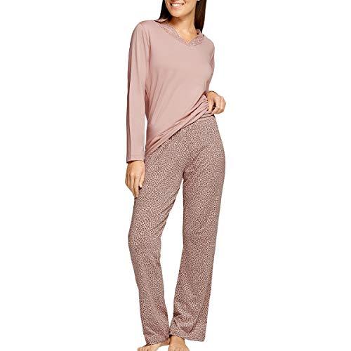 Impetus Woman - Pijama leopardo de algodón modal Nature rosa 44-46