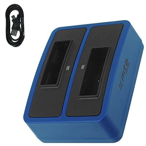 Dual-Ladeschale (Micro-USB) für NP-BX1 / Sony Action Cam FDR-X1000V, X3000R / HDR-AS200V, AS100V, AS50, AS30(V), AS10. s. Liste