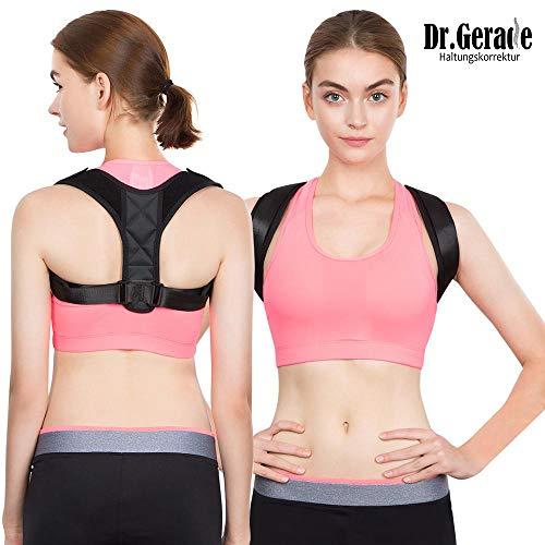 Dr. Gerade Medizinisch-orthopädischer Geradehalter Sitzhaltung Haltungstrainer zur Haltungskorrektur bessere Körperhaltung Rückentrainer für gerader Rücken für Damen Herren Kinder