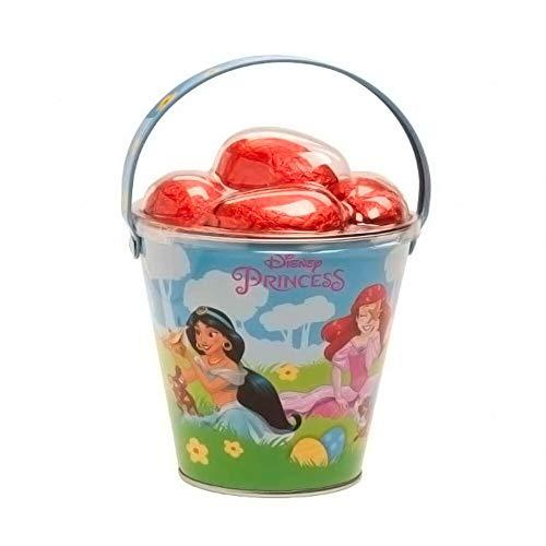 Disney Princess 2021 Cubo de Pascua con 5 Huevos Chocolate con Leche 5x12,5g (Exclusivo) Princesa