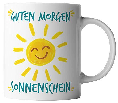 vanVerden Tasse - Guten Morgen Sonnenschein - beidseitig Bedruckt - Kaffeetassen, Tassenfarbe:Weiß