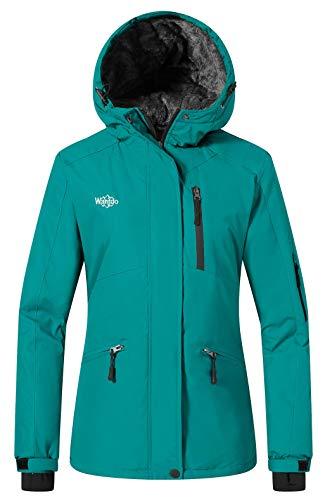Wantdo Women's Winter Jacket Windproof Winter Snowboarding Coat Dark Blue S