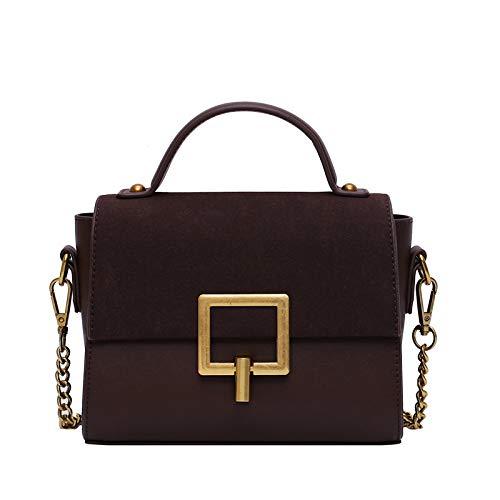 Senior Western Style Matte Feel Packet Borsa a tracolla portatile alla moda New Messenger Bag textur,Brow, taglia unica