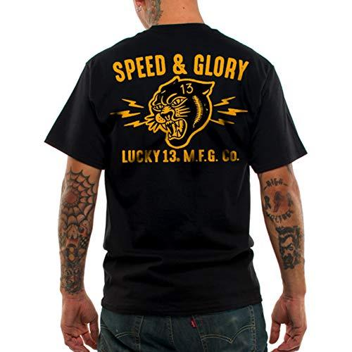 Lucky 13 Men's Panther Head T-Shirt Black 4XL