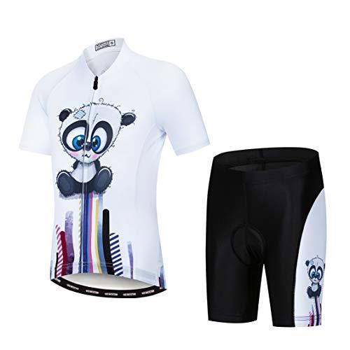 Weimostar - Maillot de ciclismo para niños, Infantil, color blanco y negro,...