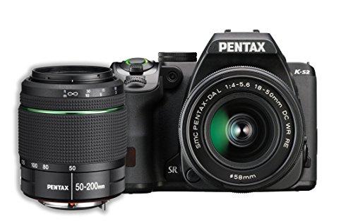 Pentax K-S2 20MP DSLR Two Lens Kit w/ 18-50mm WR &...