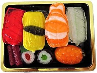 Candy Sushi Box mit 9 Sushibissen Amezaiku Candy 5 Arten von