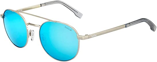 Bolle 12589 OVA Shiny Silver Sunglasses TNS Ice Lens, Blue