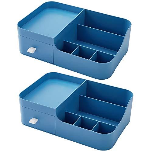 Caja de Almacenamiento Cosmético Ligero Caja de almacenamiento de escritorio de un solo cajón Dries de almacenamiento Caja de almacenamiento Recepción Caja de acabado Cosméticos Caja de acabado Diseño