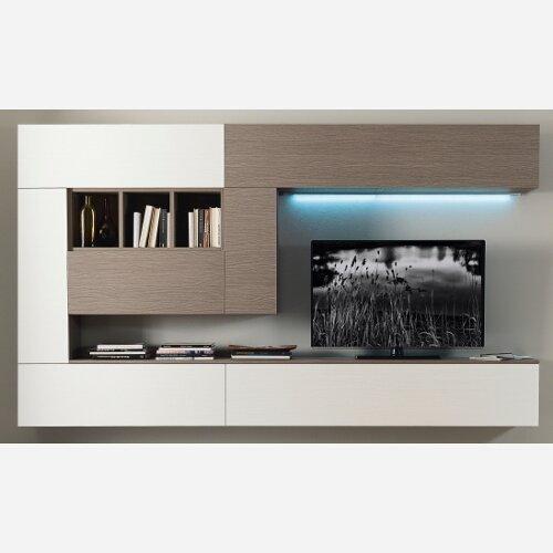 Mueble modular de salón, para la TV, decoración de pared, art. S23: Amazon.es: Hogar