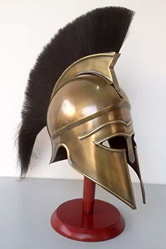 Alfiya Nautical Store Troy Greek Aquiles - Casco de armadura medieval con pluma negra