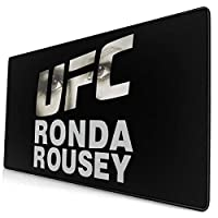 マウスパッド UFC ロンダ・ラウジー 格闘家 大型 キーボードパッド デスクマット FPSゲーム 滑り止め 防水 ゲーミング 耐摩耗 疲労低減 ファッション (40*75cm)