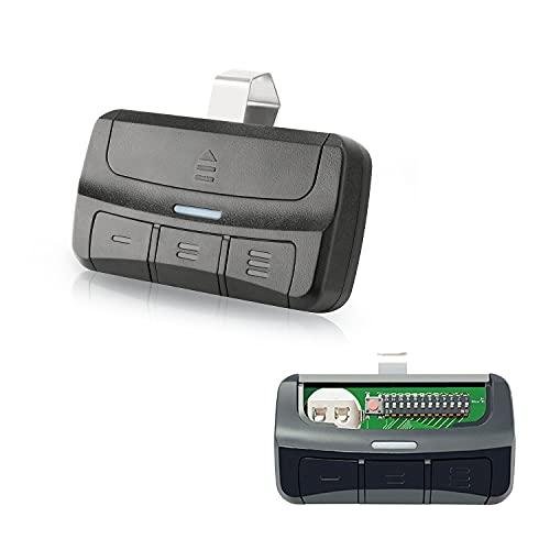 Pumier 3-Button Universal Garage Door Opener Remote - Controls Up to 3 Garage Door Openers - Replacement for Liftmaster Chamberlain Genie Linear Stanley 300/310/315/318/390MHz