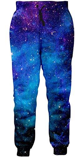 Loveternal Jogginghose Herren Muster 3D Hose Galaxy Hosen Lustige Jogger Sport Pants Casual Baggy Sweatpants S