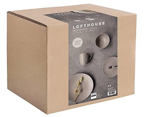 ASA 99880770 Lofthouse - Vajilla (16 piezas), color caramelo