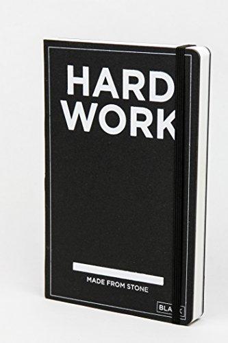Hard Work Book - Notizbuch aus Steinpapier - blanko