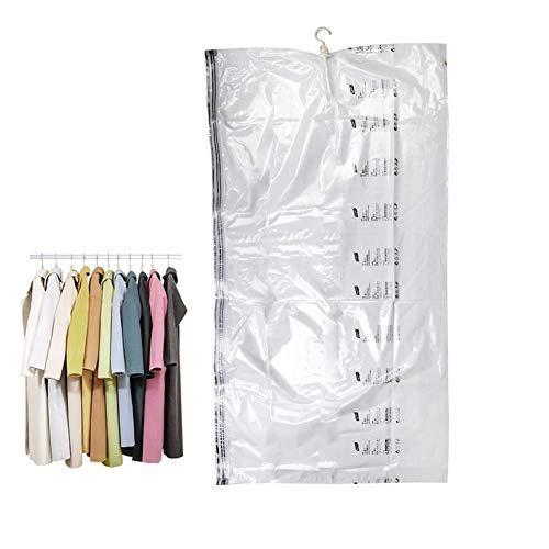 DealMux Bolsas de vacío Colchas Bolsas de almacenamiento al vacío Bolsas de vacío para ropa Bolsas de vacío Bolsas de almacenamiento de almacenamiento para ropa de cama Transparente, 135X70CM