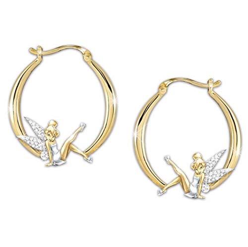 Féeries et merveilles Ohrringe Fee und wunderbare Tinker Bell mit Strasssteinen, Feenfigur