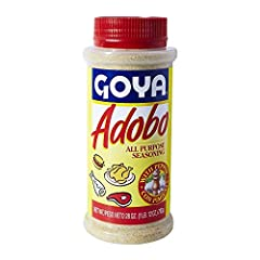 Goya Adobo Extra Large 28 oz Shakeable Canister The Perfect blend of garlic, oregano and other Latino Spices Perfect for all meats, Beef, poultry and fish, a simple shake is all it takes Gluten Free Adds great taste to any meal