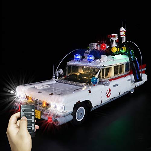 SICI Juego de iluminación LED para Lego Ghostbusters Ecto 1, iluminación compatible con el modelo Creator 10274 Creator Ghostbusters (no incluye Lego)