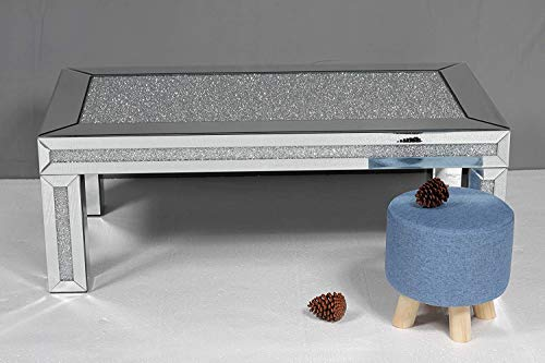Mirrored Crushed Diamond Coffee Table - Contemporary Design