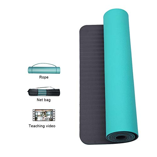 Yogamatte WGXYQ Fitnessmatte Verschleißfest rutschfest Dicke 6mm/10mm Gesundheits- Und Umweltschutz TPE Trainingsmatte 183x61cm (Color : #2, Size : Thickness 10mm)