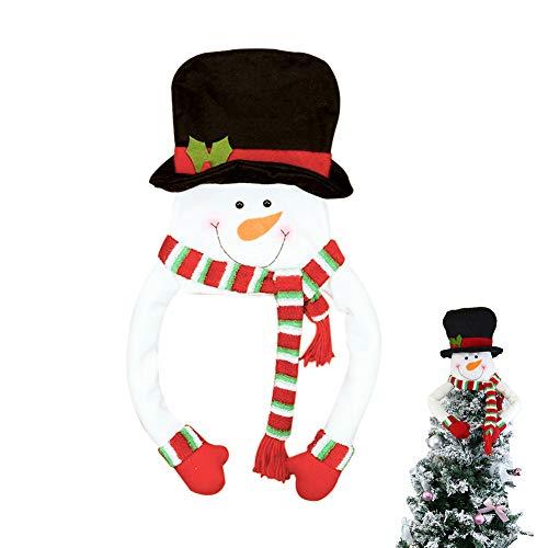 Árbol de Navidad Topper Hugger Sombrero de Copa de Muñeco de Nieve Grande Navidad Ornamento para la Decoración...