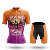 サイクルジャージ 半袖 上下セット 自転車ジャージーセット 女性用自転車服半袖スキンスーツ サマーサイクリングプロチームレーシングユニフォーム トライアスロンスーツキット 吸汗 (Color : 10-260, Size : XXXXXL)