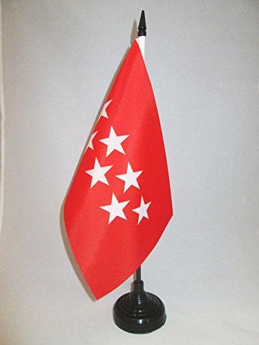 AZ FLAG Bandera de Mesa de la Comunidad DE Madrid 21x14cm - BANDERINA de DESPACHO MADRILEÑA 14 x 21 cm