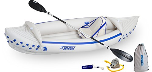 Sea Eagle SE330 Inflatable Sports Kayak Pro Solo Package