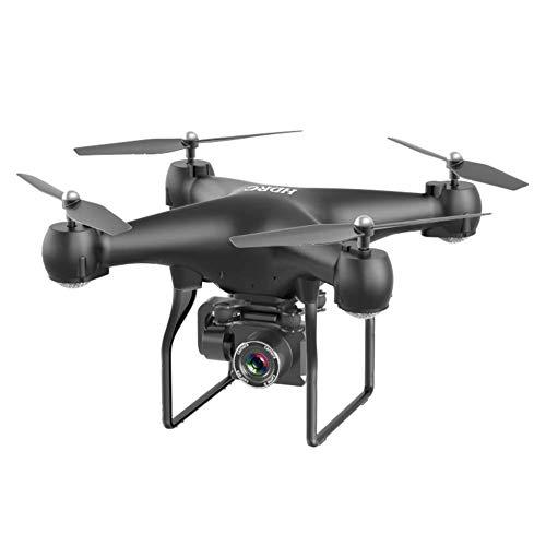 J-Clock WiFi Drone, 4K Gran Angular Drone Fotografía Cámara ESC Cámara Control Remoto Cuatro Ejes Aeronaves transmisión gráficos en Tiempo Real Altura barométrica, Negro