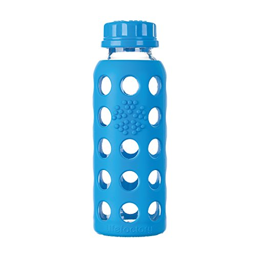 Lifefactory - Borraccia in vetro, blu