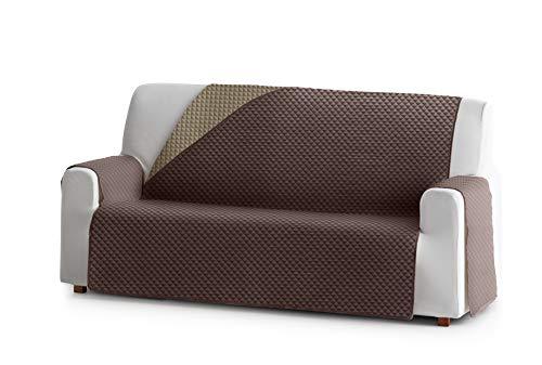 Eysa Oslo Funda, Poliéster, C/7 Marron-Vison, 4 plazas 190cm. Válido para sofá Desde 210 a 250cm