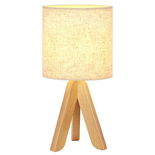 Moderna lámpara de mesa de madera para mesita de noche de estilo minimalista, lámpara de escritorio para niñas, dormitorio, salón, lámpara de ambiente