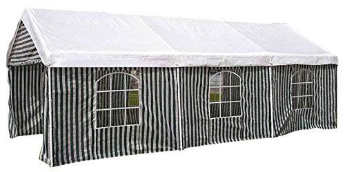 TrendLine Pavillon Großraumzelt 4x8m grün-weiß Partyzelt Gartenzelt Bierzelt