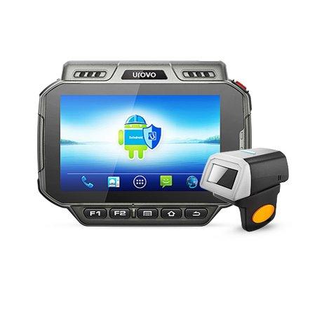 Terminal robuste de collecteur de données,Portable,Scanner sans fil de code barres d'anneau de Bluetooth,Android 5.1,IP65,4G / WIFI / GPS