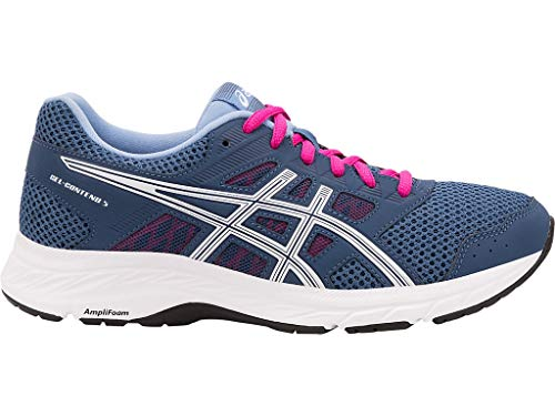 ASICS Women's Gel-Contend 5 Running Shoes, 8.5M, Grand Shark/White