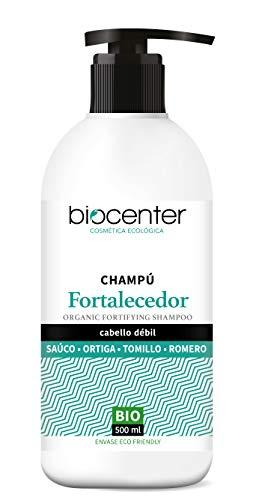 Biocenter Top Champú Fortalecedor Sauco Ortiga Tomillo Romero - Envase Ecofriendly 500 ml