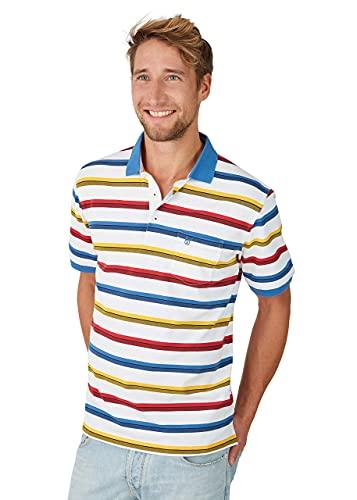 hajo Polo & Sportswear Herren Pikee-Polo mit Ringel in Kontrastfarben