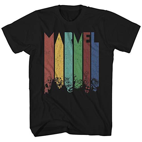 Marvel Color Daze Avengers X-Men Superhero Super Hero Comics Adult Mens Graphic Tee T-Shirt (Black, Large)