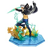 ZOXI 17Cm One Piece Trafalgar Law Anime Action Figure Trafalgar D Water Law Gamma Knife Fight PVC Collection Model Dolls Toy For Gift
